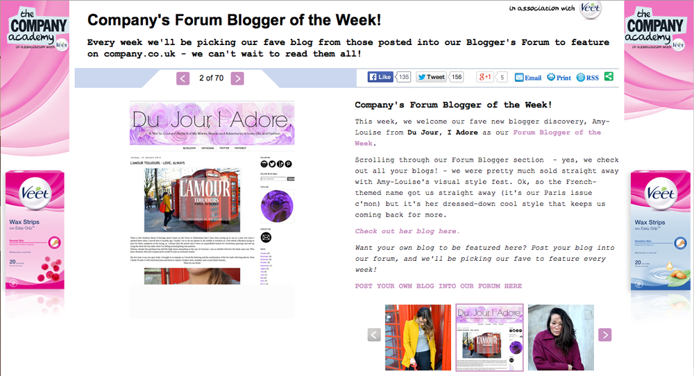 Company Magazine Forum Blogger of the Week
