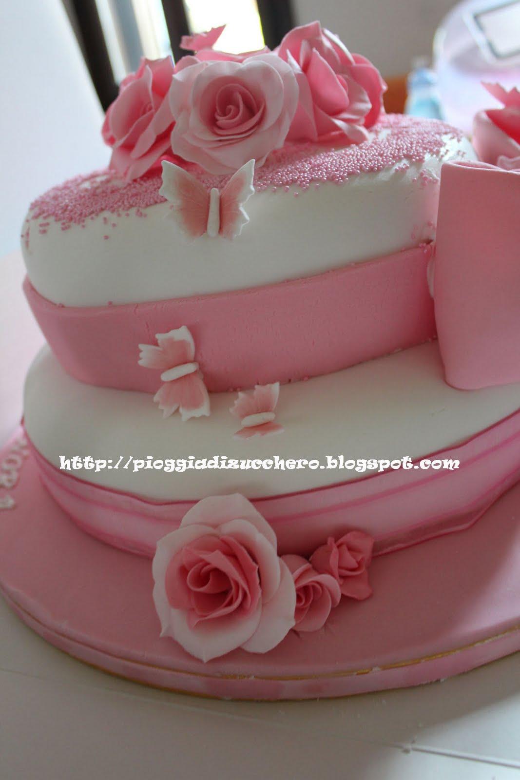 Eccoci come promesso con la torta creata per francesca ed - Decorazioni per cresima ...