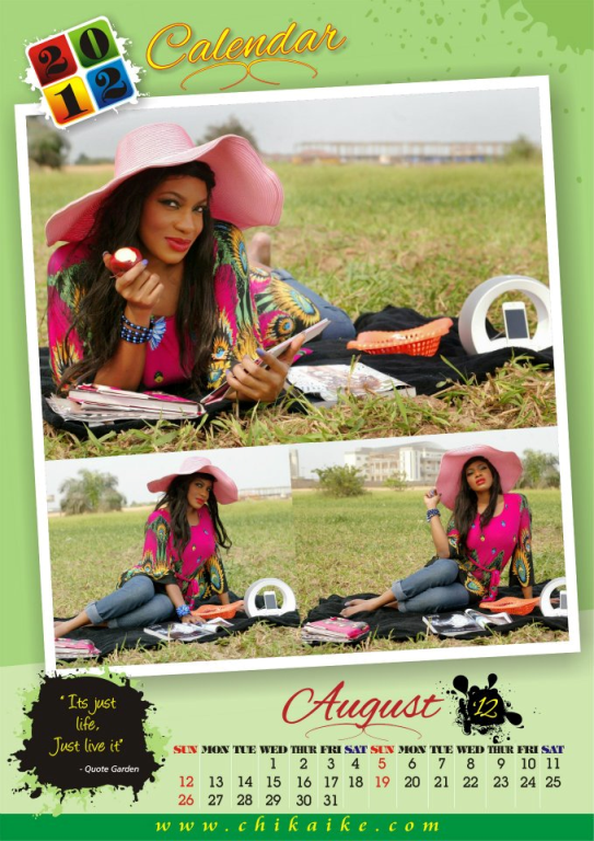 Too Late?? Actress Chika Ike Unveils 2012 Calendar. 9