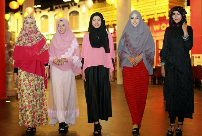 25 Contoh Model Baju Muslim Tren Sekarang 2017