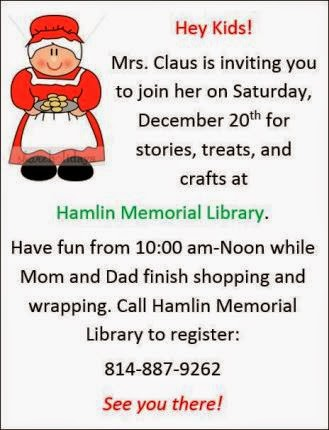 12-20 Fun With Mrs. Claus Hamlin Library