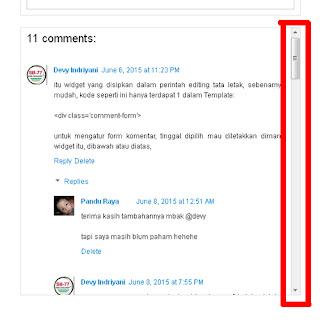 Cara Sederhana Membuat Scroll Pada Kolom Komentar Blogspot