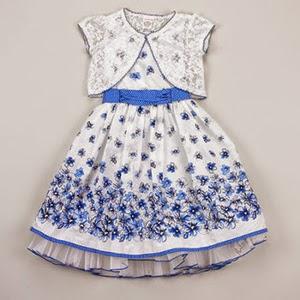 Blue Daisy Border Dress