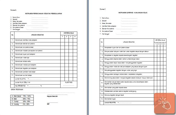 Program Dan Format Instrumen Supervisi Kepala Sekolah