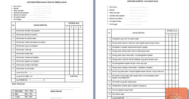 Program Dan Format Instrumen Supervisi Kepala Sekolah Download File Pendidikan