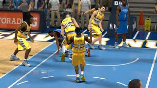NBA 2K13 Denver Nuggets Gold Alternate Jersey