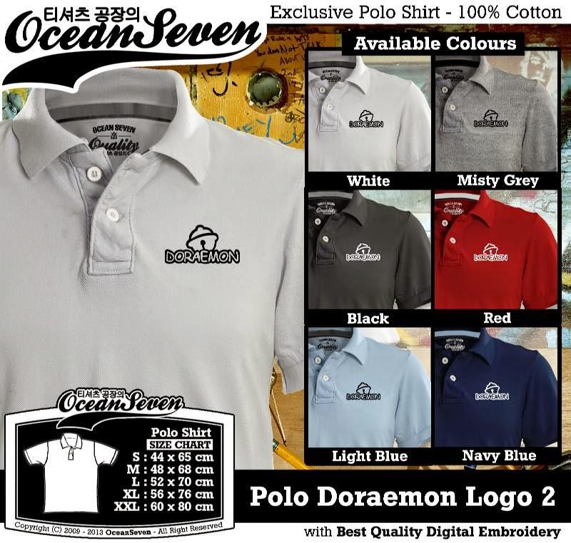 Kaos Polo Doraemon Logo 2