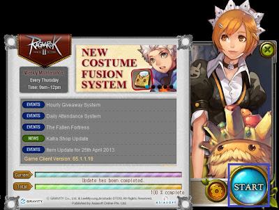 Tampilan Launcher Ragnarok Online 2