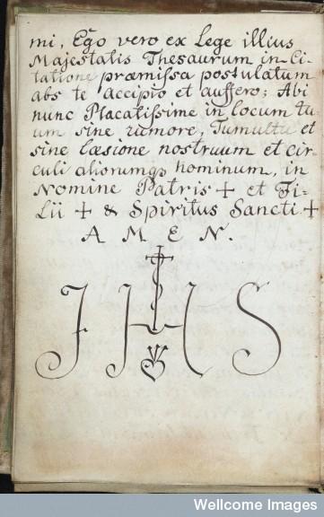 """El Acrónimo Jesuita """"I.H.S."""" en el Grimorio de San Cripriano 564929ea9319ad40b88602d78344"""
