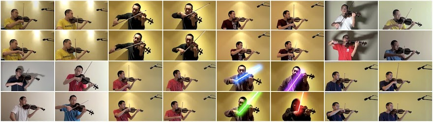 Navigating YouTube with a Violin