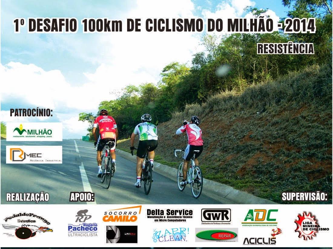 1° Desafio 100 Km de Ciclismo do Milhão - 2014