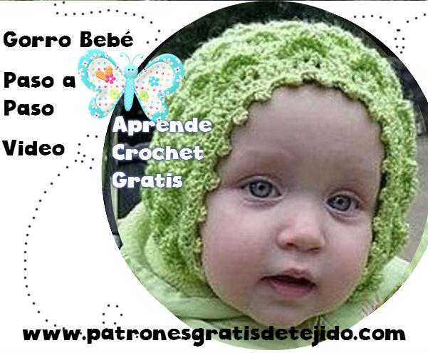 Clase gratis de crochet online: aprende a tejer una gorra vintage para bebe