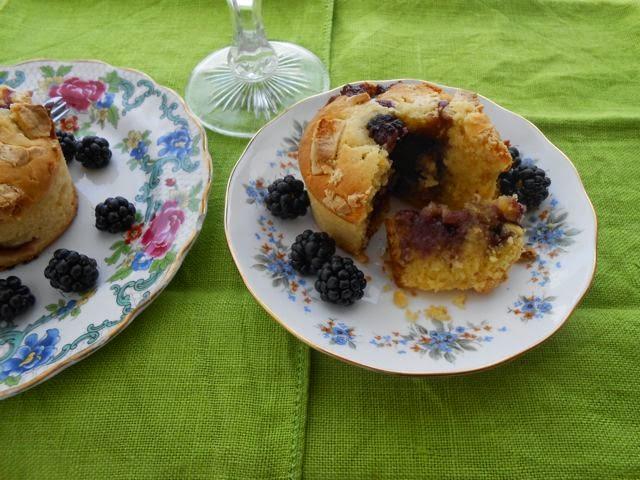 Blackberry Volcano Cakes