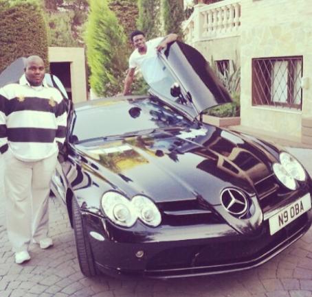 Check out Obafemi Martins 's Mercedes Benz CLK convertible