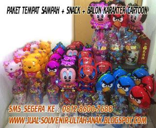 Souvenir+Ulang+Tahun+Anak+Paket+Tempat+Sampah+dengan+Balon+Karakter+Cartoon 6 Langkah Rayakan Ulang Tahun Anak