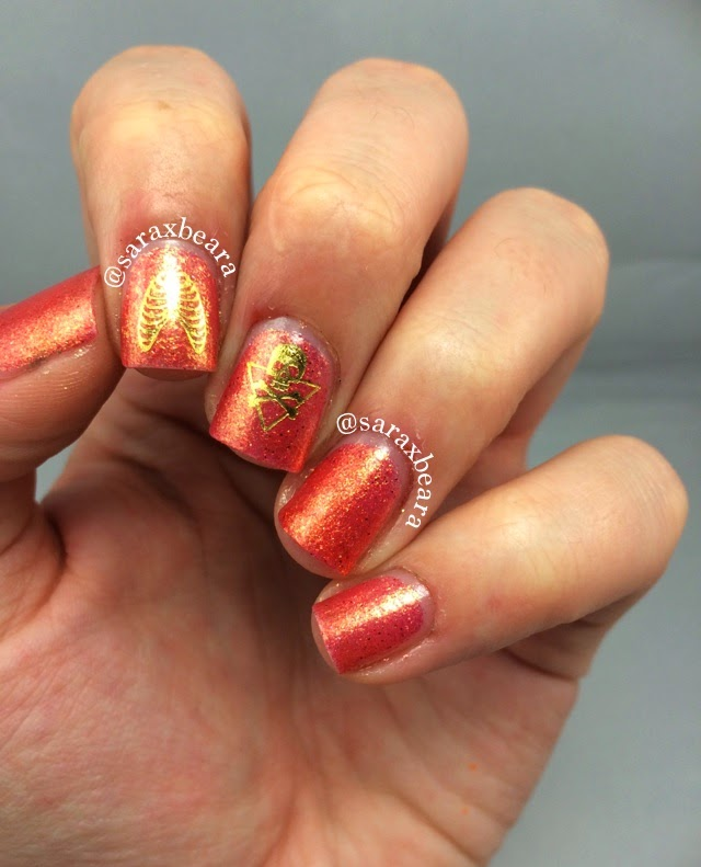 "Krafty Gurl Designs Nail Dazzle ""Poppy"""