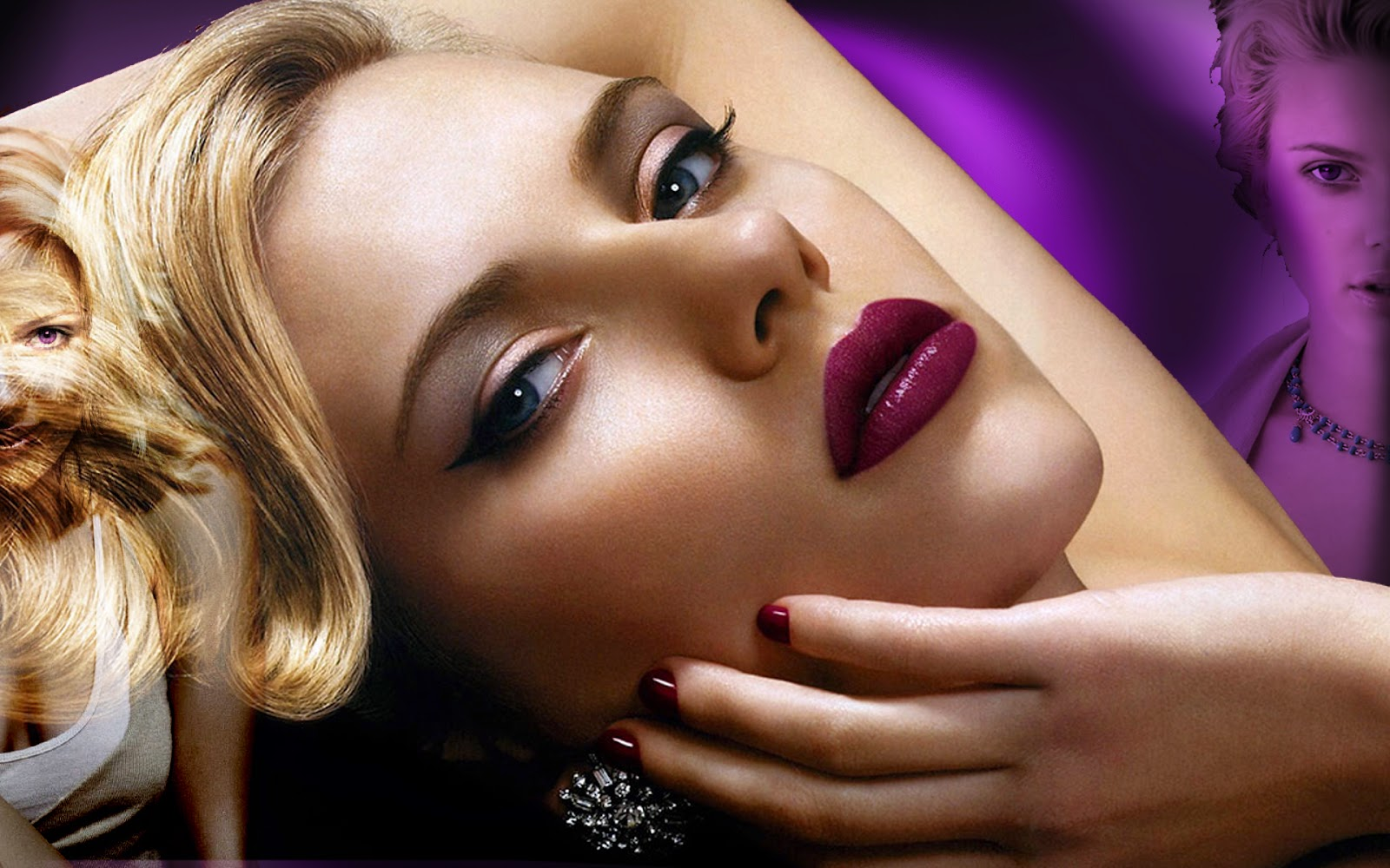 Hollywood Actress Scarlett Johansson Wide screen wallpapers