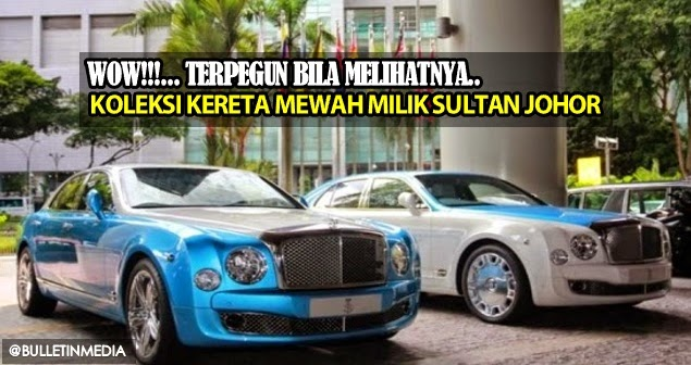 Wow!!.. Pasti Terpegun, Melihat Koleksi Kereta Mewah Milik Sultan Johor