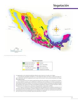 Apoyo Primaria Atlas de México 4to grado Bloque I lección 8 Vegetación