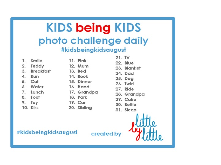 Photo Challenge Every Month Kidsbeingkids Little By Little Loves