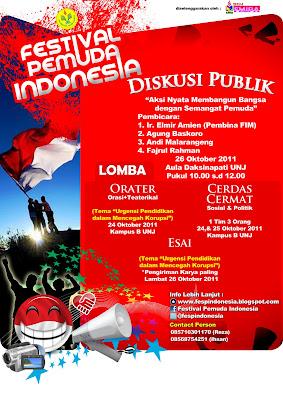 Lomba Esai Pelajar Oktober Festival Pemuda Indonesia BEM FMIPA UNJ