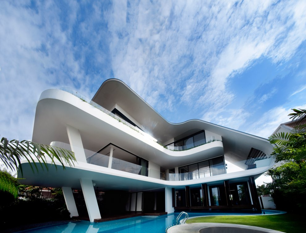Beautiful home in singapore most beautiful houses in the for Beautiful architecture houses