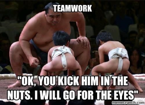 Teamwork meme