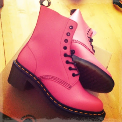 Pink Dr Martens Clemency Boots