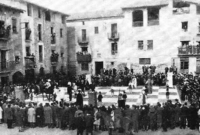 Ajedrez Viviente de Santpedor en 1962