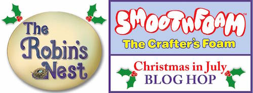 smoothfoam robins nest christmas blog hop