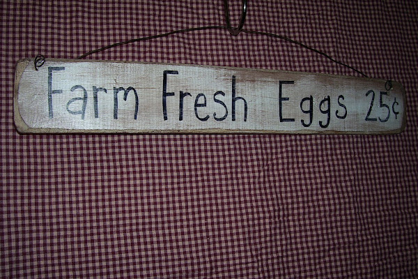 "FARM FRESS EGGS 25cents $8.00  4""x24"""