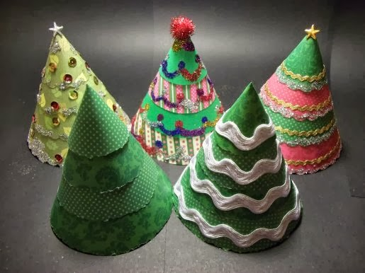 Make a Cone Christmas Tree - Tutorial! - Craft And Activities For All Ages!: Make A Cone Christmas Tree