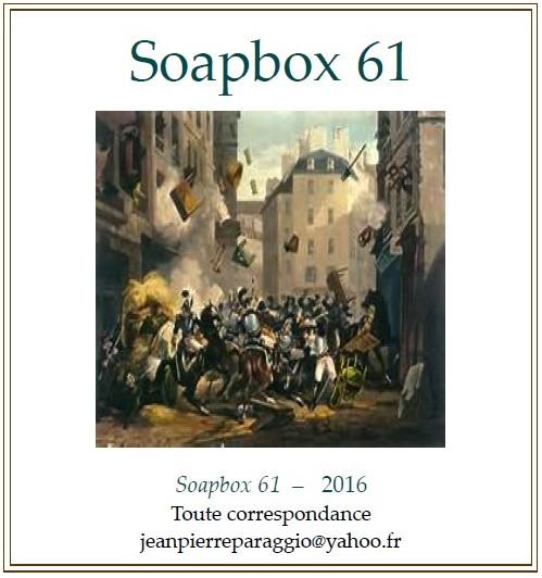 SOAPBOX 61 ; 60 ; 59 - FEUILLETS de L'UMBO, ÉTÉ 2016, ART & POÉSIE
