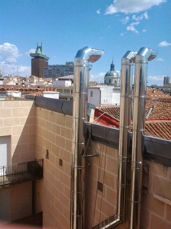 Reformas conductos ventilaci n madrid chimeneas y salida - Tubos extraccion de humos ...