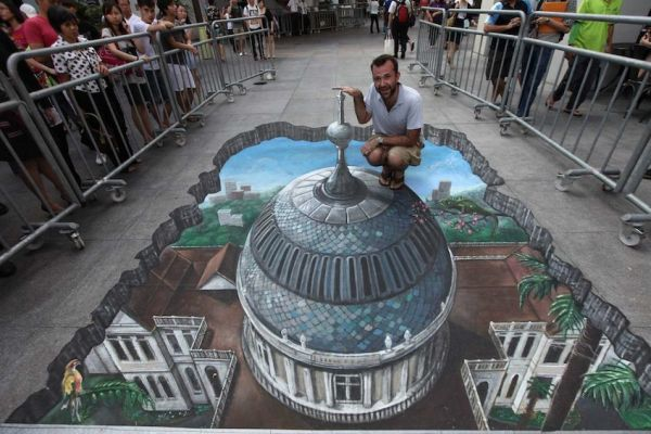 Awesome anamorphic 3d street art by joe and max amazing arts