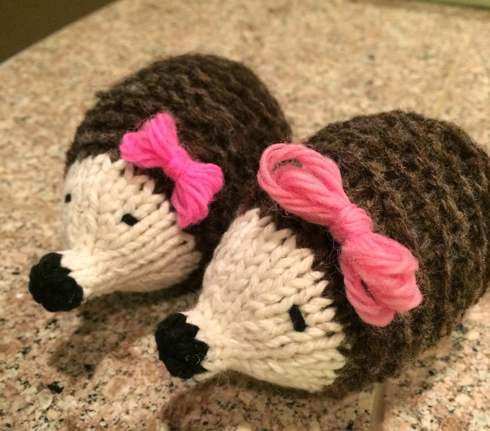 T. Matthews Fine Art: Newest Knitting Project - Hedgehogs