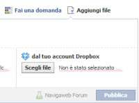 Dropbox dentro Facebook