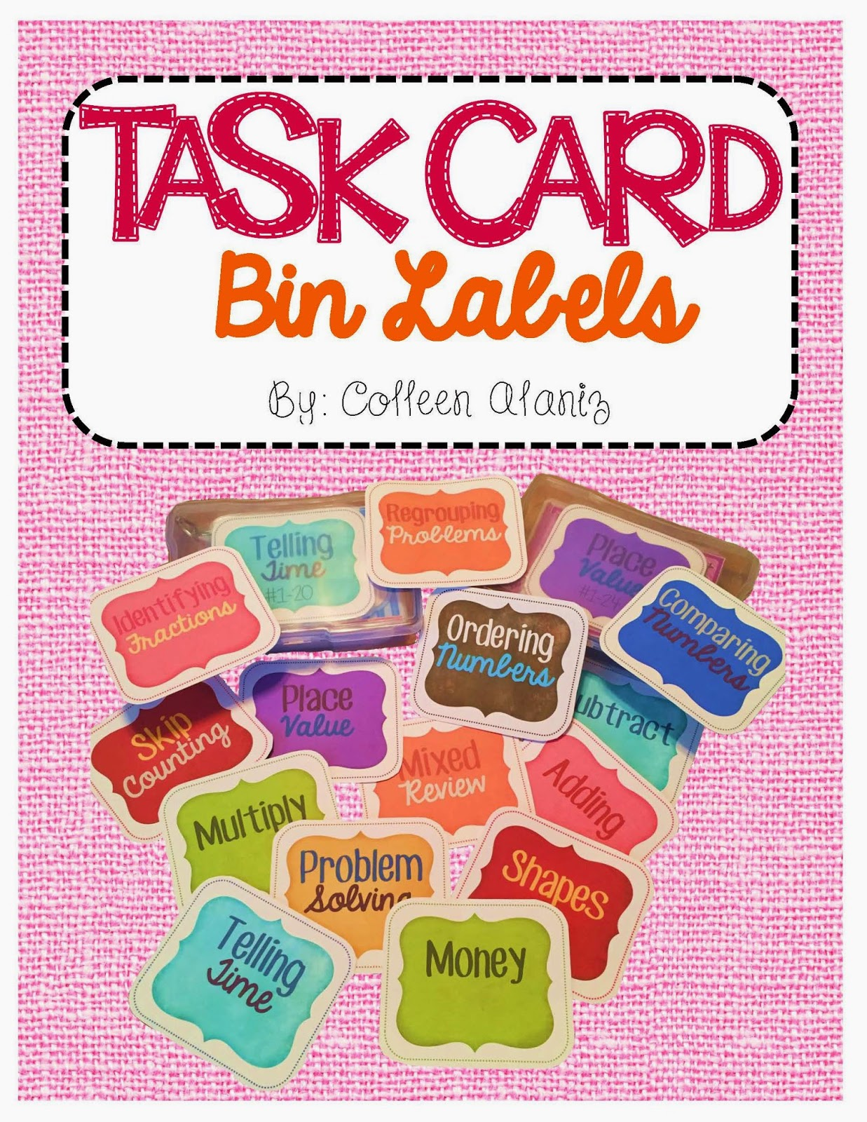https://www.teacherspayteachers.com/Product/Math-Task-Card-Labels-1796346