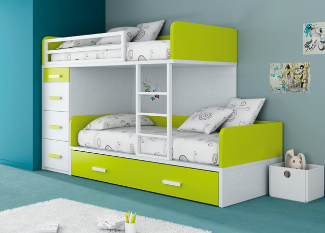 Dormitorios infantiles y juveniles para ni as ni os y for Camas de 1 05 juveniles