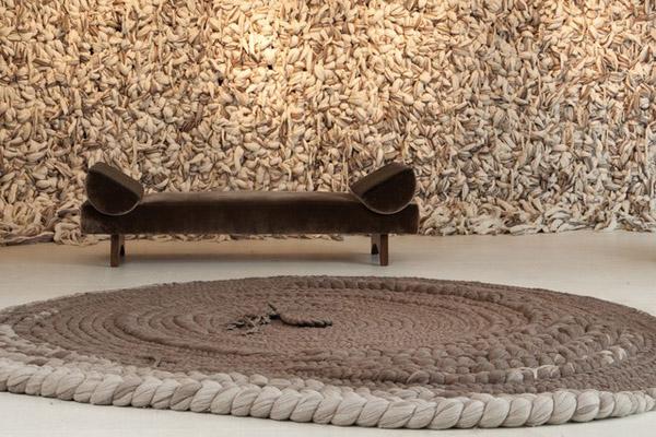 diseño textil  Dana Barnes pared de lana  wool design