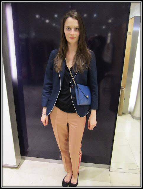 Style de la semaine pantalon Chloé rayures côté ThatsMee
