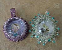 Glass Pebble Pendants - LONELY GIRL + TILTING WINNIE