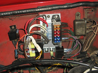 diary of an mgb let there be light fuses and relays