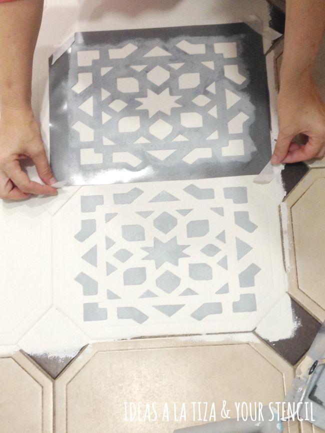 Ideas a la tiza suelo pintado con chalk paint - Mesas pintadas a la tiza ...