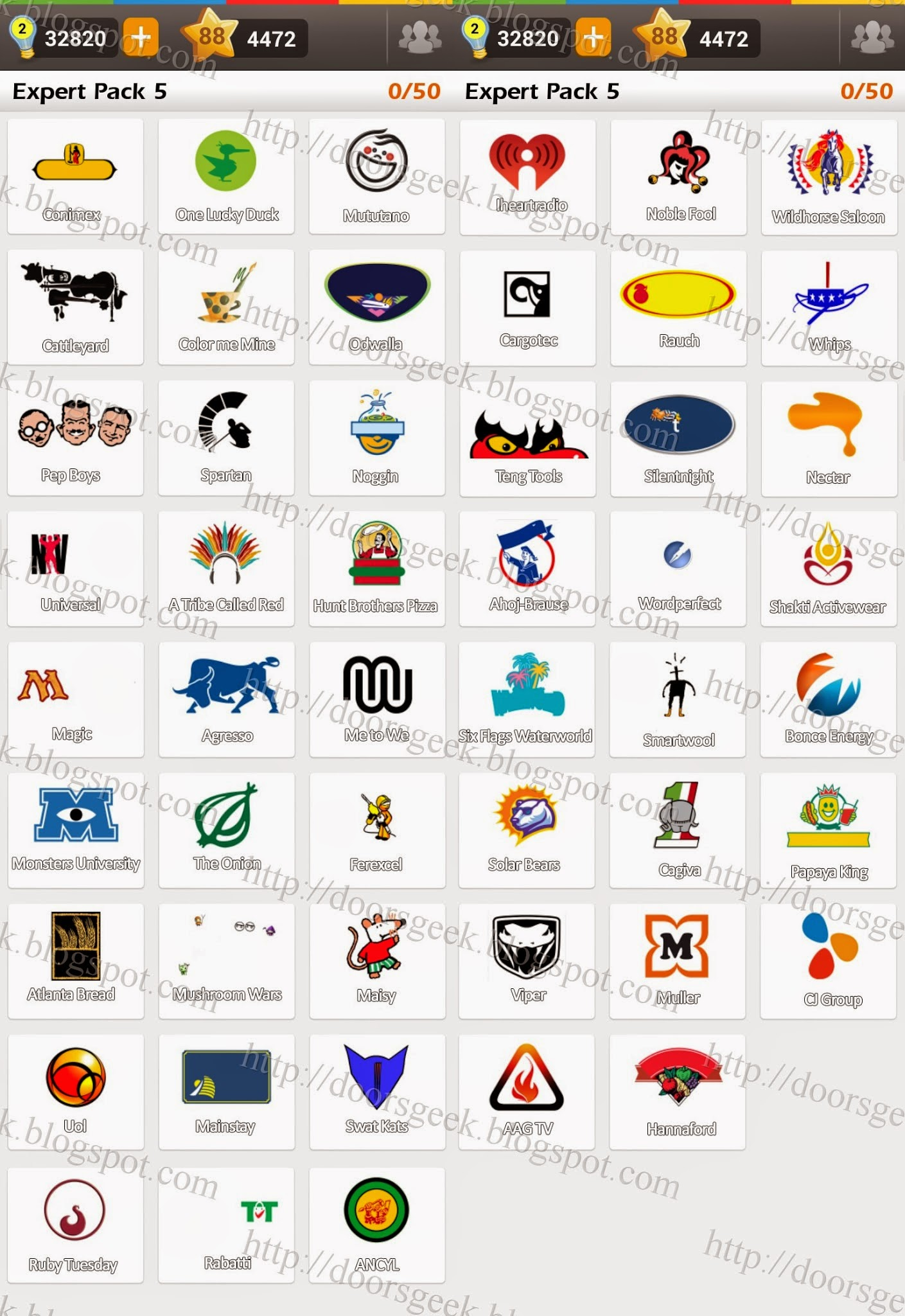 Logo game guess the brand expert pack 5 doors geek for Gardening tools 94 game answers