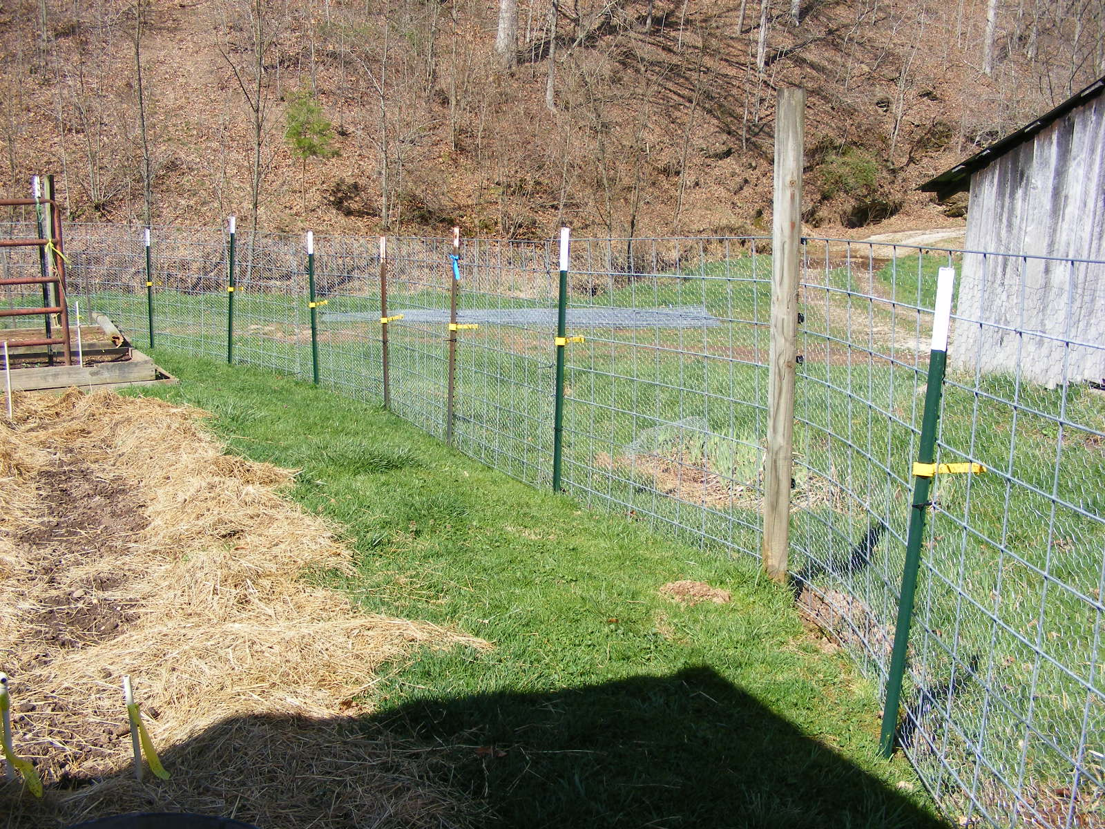 Intermittent farm report garden fencing let me count