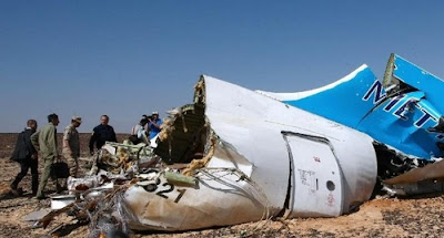 Site of the A321 Russian airliner that crashed on Oct 31, 2015