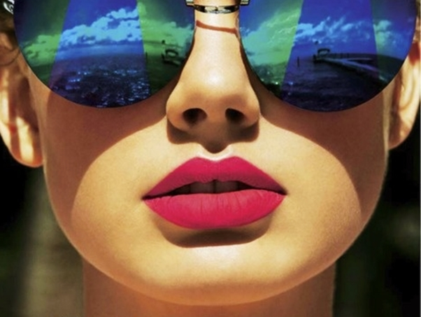 Óculos Diferentes Tendência Espelhado Azul Verde