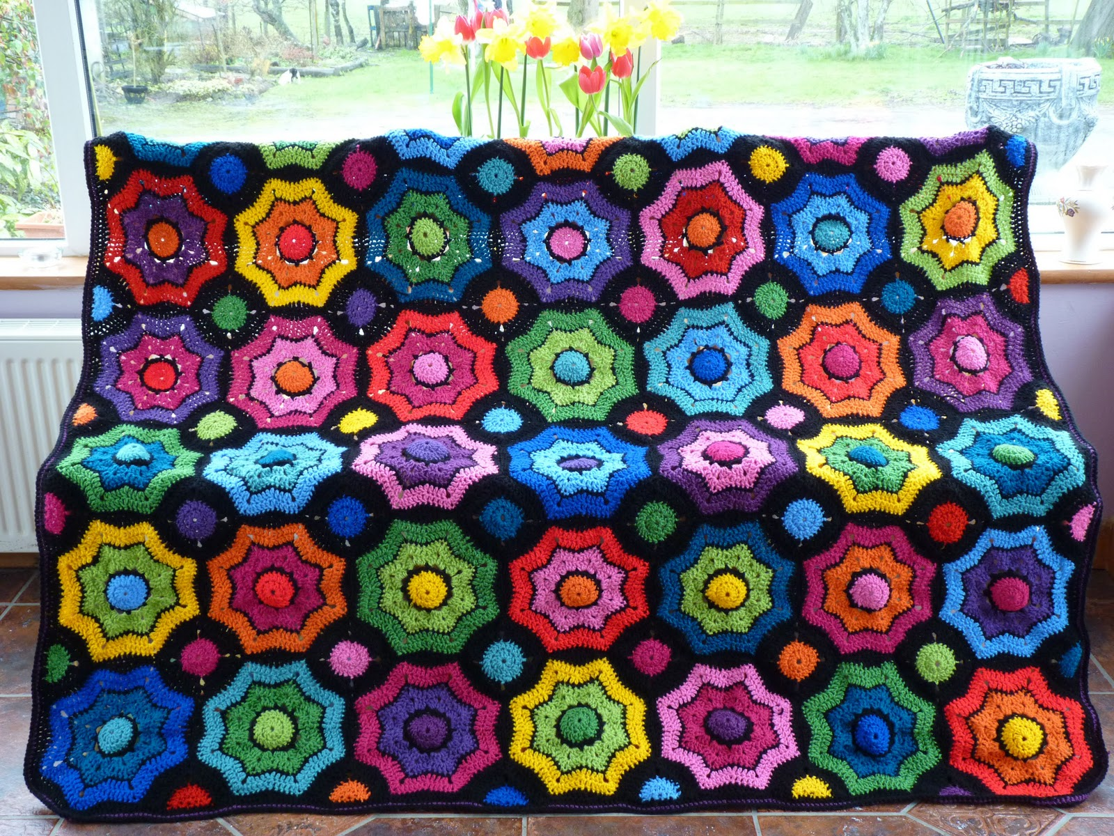 Free Crochet Pattern Octagon Motif : The Adventures of the Gingerbread Lady: Colour Workshop ...