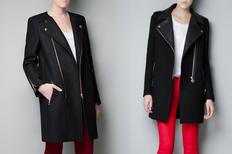 zara biker coat jacket